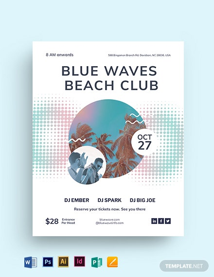 Beach Club Flyer Template