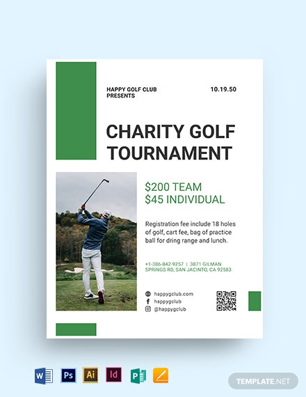 golf fundraiser flyer template
