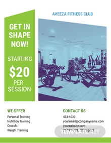 Gym Center Flyer Template