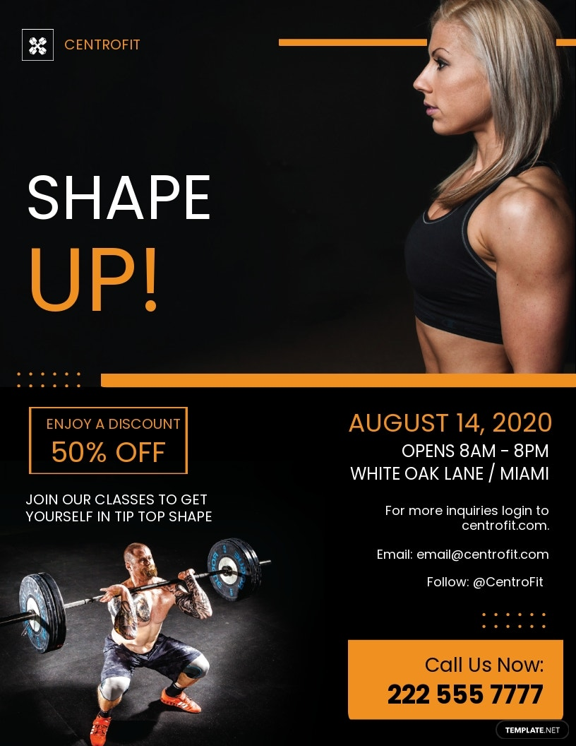 Gym Fitness Flyer Template.jpe
