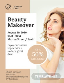 Hair and Make up Beauty Salon Flyer Template