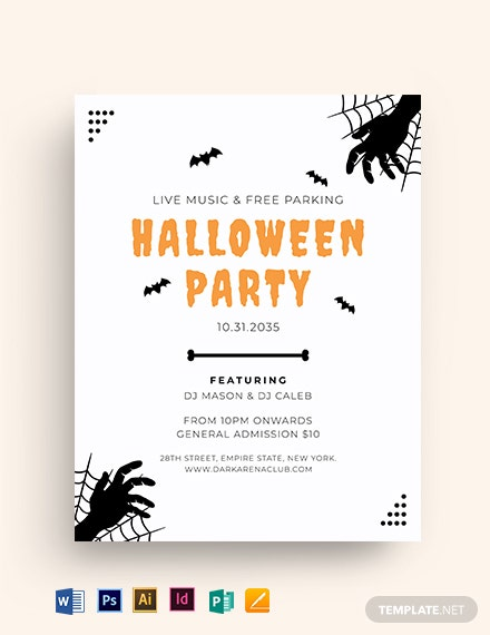Halloween Minimalist Flyer Template