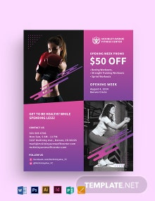 Health Sports Fitness Flyer Template