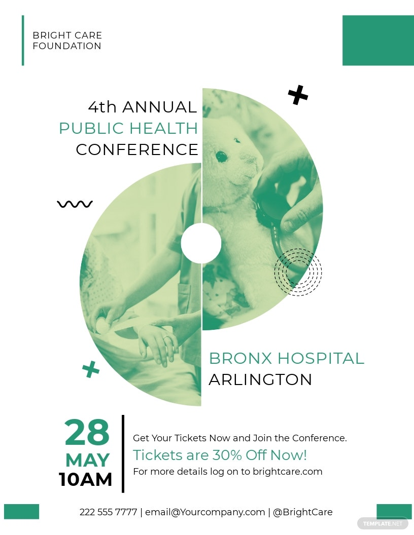 Healthcare Conference Flyer Template [Free JPG] - Illustrator, InDesign, Word, Apple Pages, PSD, Publisher