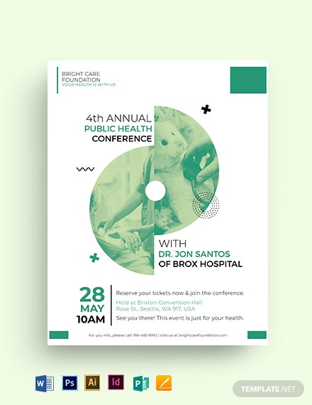 Healthcare Conference Flyer Template