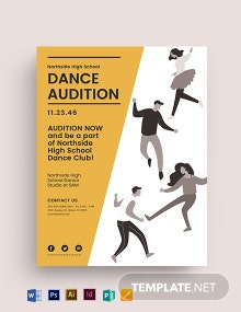 High School Audition Flyer Template