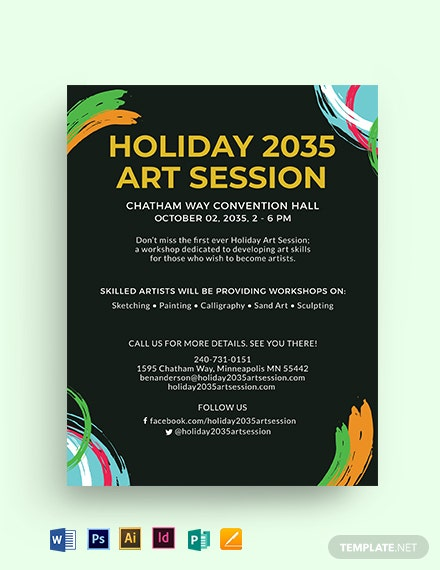 Holiday Mini Session Flyer Template