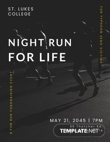 Night Run Event Flyer Template