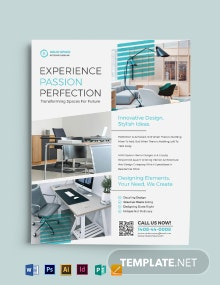 Office Interior Flyer Template
