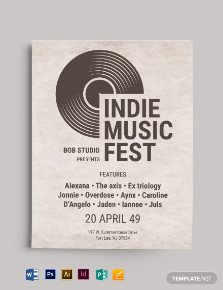 OLD Vintage Indie Flyer Template