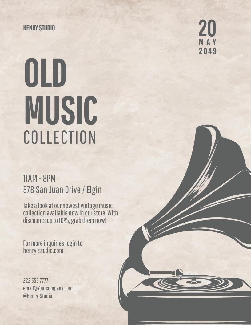 Old Vintage Music Flyer Template