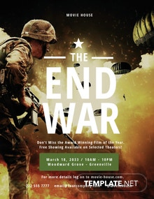 The End War Movie Flyer Template
