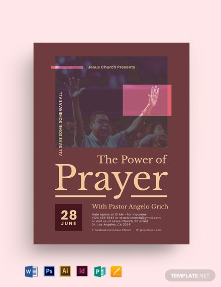 The Power of Prayer Church Flyer Template