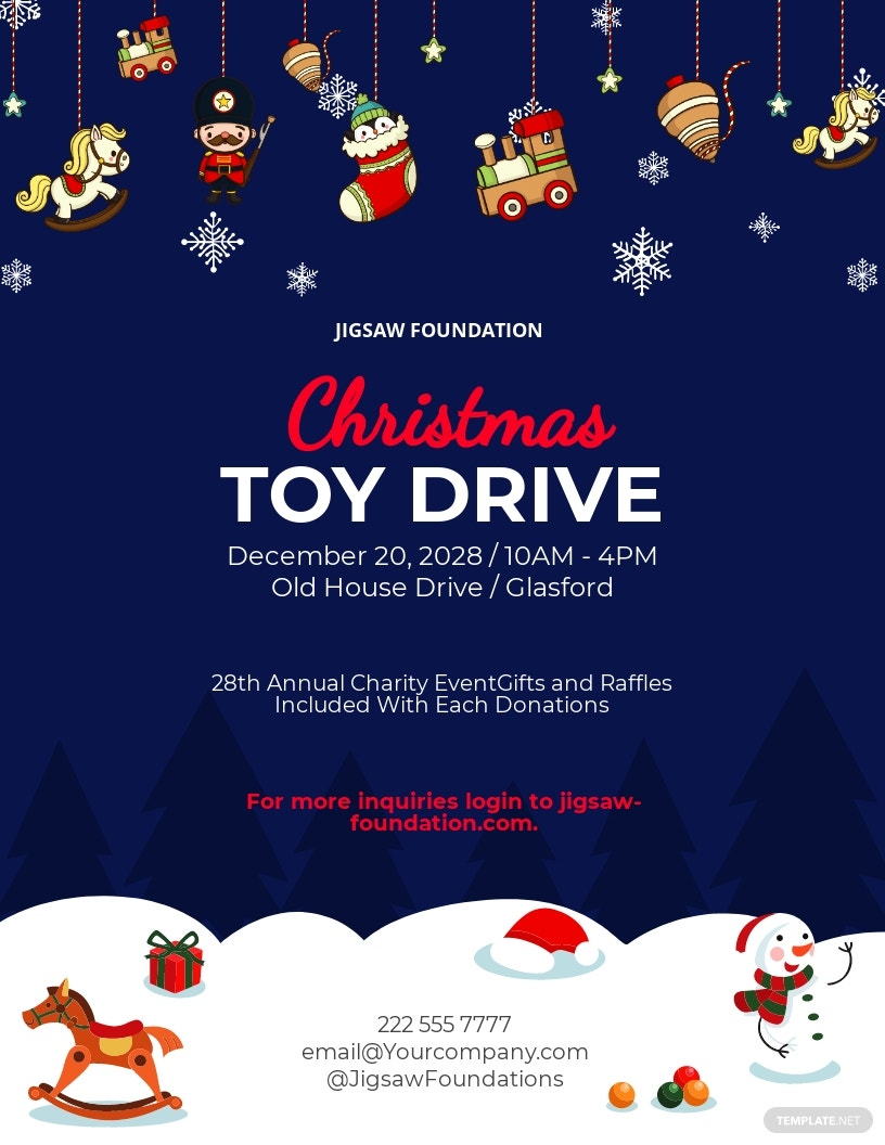 Toy Drive Christmas Flyer Template