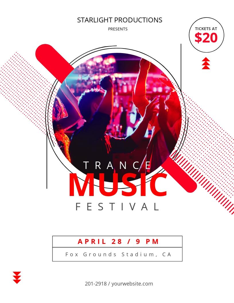 Trance Concert Flyer Template
