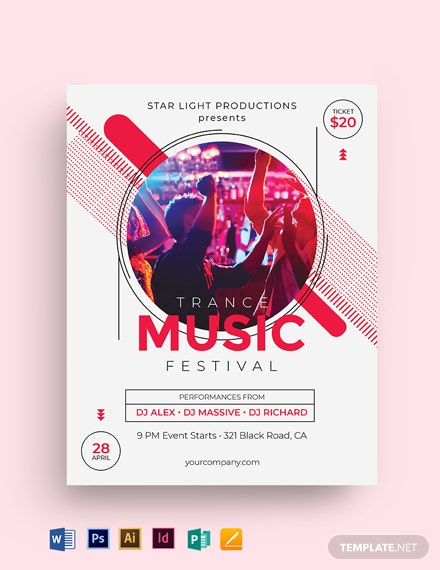 Trance Concert Flyer Template