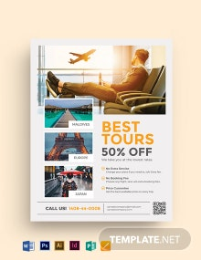 Travel Agency Promotional Flyer Template