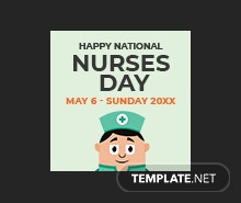 Free Nurses Day Tumblr Profile Photo Template