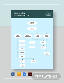 Housekeeping Organizational Chart Template