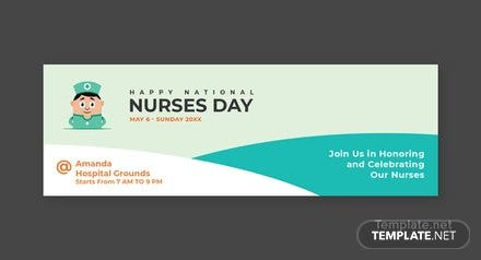 Free Nurses Day Twitter Header Cover Template