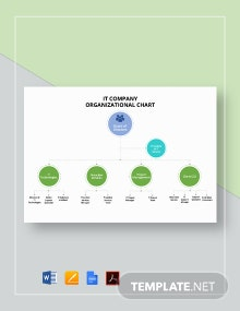 IT Company Organizational Chart Template
