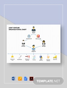 Joint Venture Organizational Chart Template