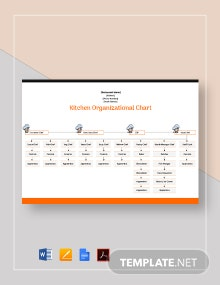 Kitchen Organizational Chart Template