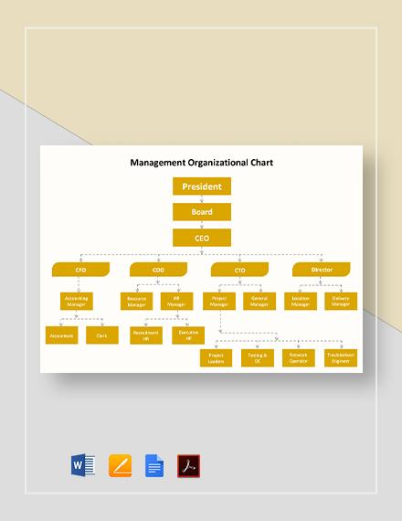 Management Organizational Chart Template
