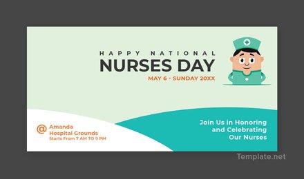 Free Nurses Day Twitter Post Template
