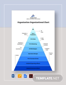 Organization Organizational Chart Template