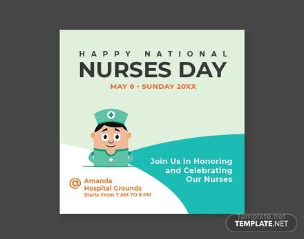 Free Nurses Day Twitter Profile Photo Template