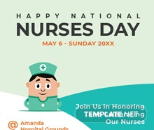 Free Nurses Day Twitter Profile Photo Template