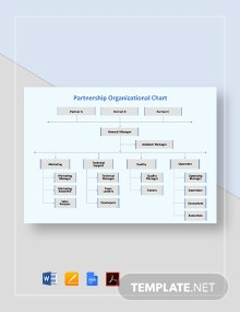 Partnership Organizational Chart Template