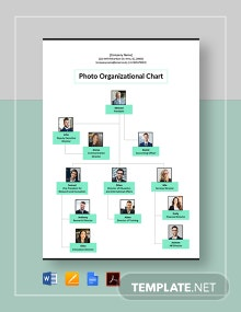 Photo Organizational Chart Template