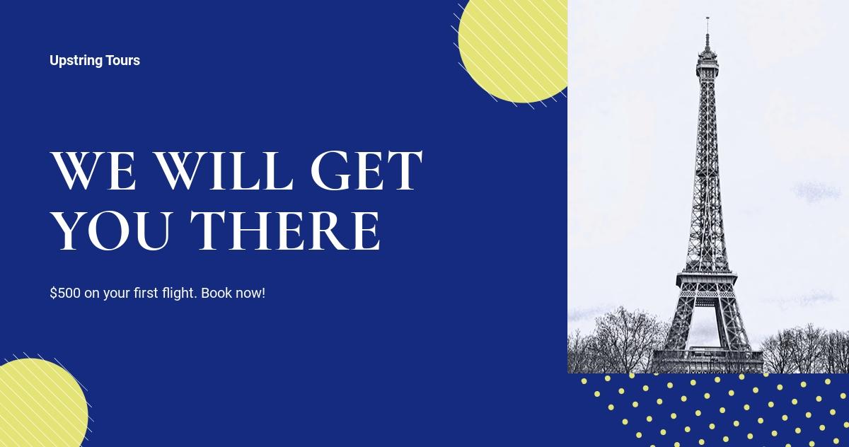 Free Simple Travel Agency Facebook Post Template.jpe