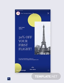 Free Simple Travel Agency Instagram Story Template
