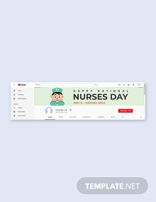 Free Nurses Day YouTube Channel Cover Template
