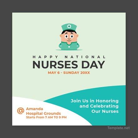 Free Nurses Day YouTube Profile Photo Template