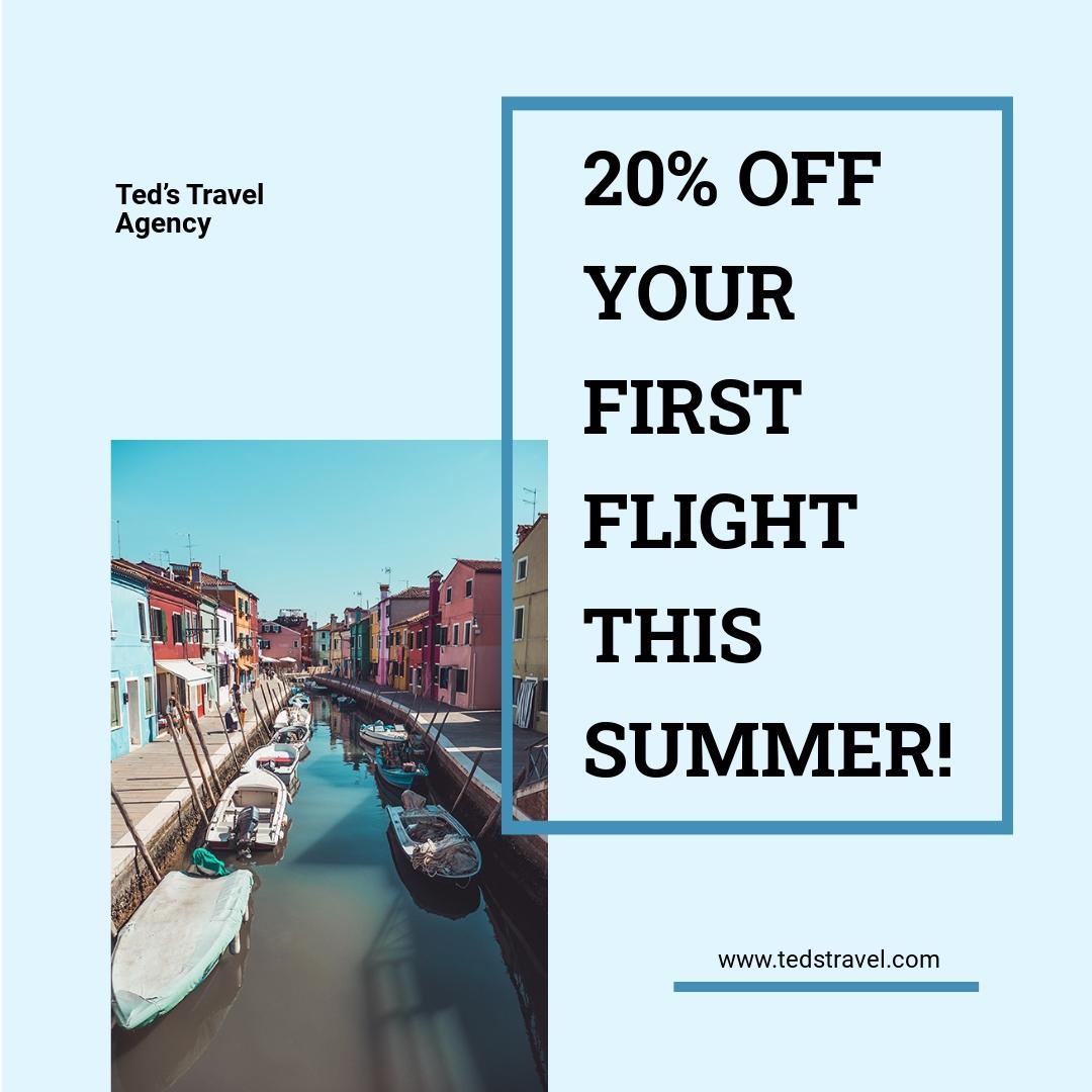 Summer Travel Instragram Post Template.jpe
