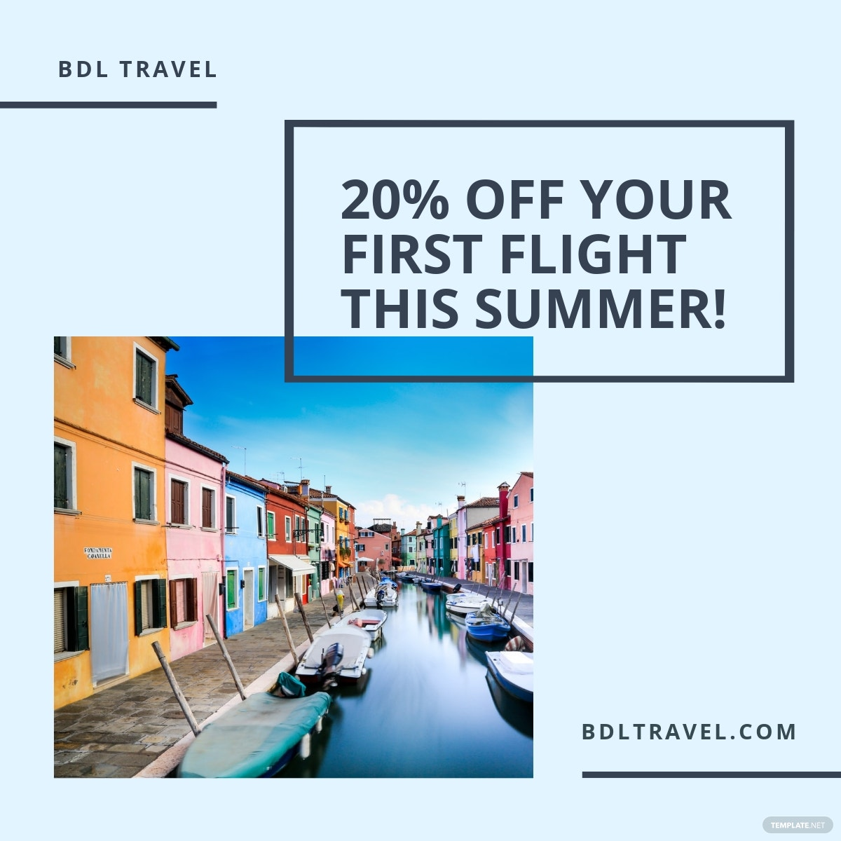 Summer Travel Linkedin Post Template.jpe