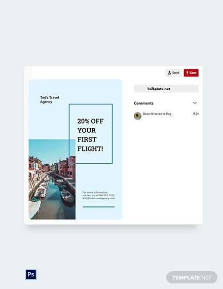 Free Summer Travel Pinterest Pin Template