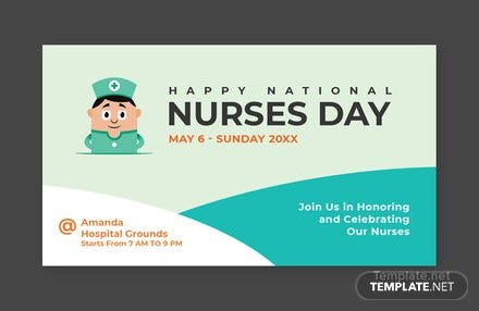 Free Nurses Day YouTube Video Thumbnail Template