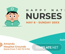 Free Nurses Day YouTube Video Thumbnail Template