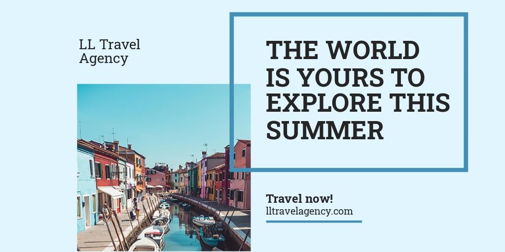 Free Summer Travel Twitter Post Template.jpe