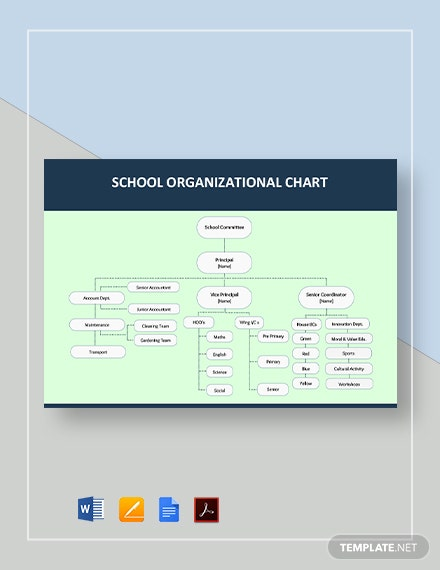 School Organizational Chart Template