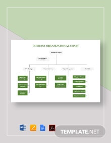 Simple Company Organizational Chart Template