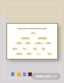 Simple Department Organizational Chart Template