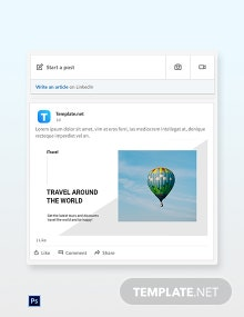 Free Travel Trends LinkedIn Post Template