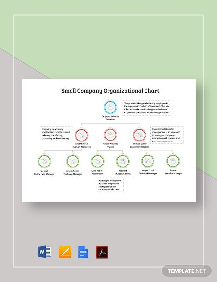 Small Company Organizational Chart Template