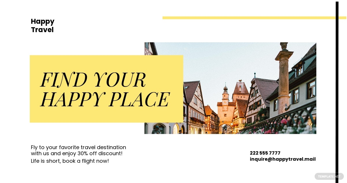 Travel & Tourism Facebook Post Template